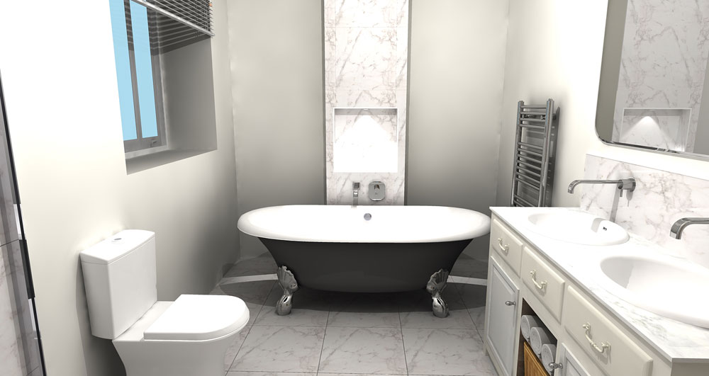 Bathroom design service wheildons heating and plumbing for Bathroom design service