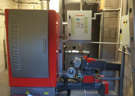 Claughton Hall - Plant Room Boiler View