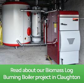 Biomass Log Burning Boiler, Claughton