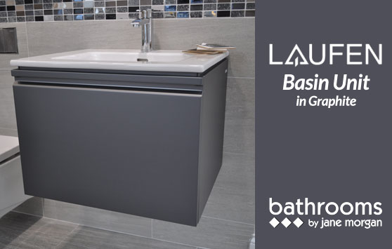 Laufen Basin Unit in Graphite