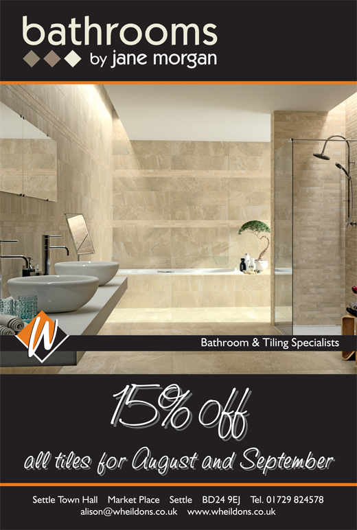 15% Off Sale on all tiles during August and September